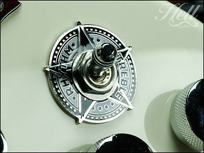 """""""STAR"""" Rhythm Treble Toggle Switch Washer . Most Gibson Epiphone Les Paul SG Etc"""