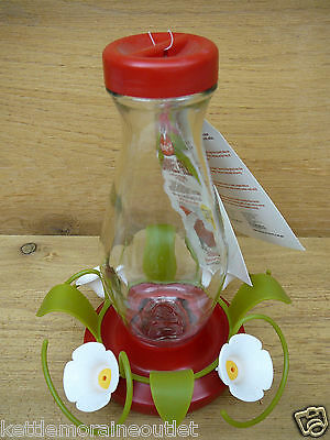 Perky Pet Funnel Fill Glass Hummingbird Feeder 16oz 4 Feeding Ports #161-3