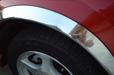"1998-2005 Mercedes M-Class 1"" QMI Chrome Fender Trim Wheel well lip Moldings"