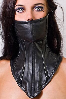 Halskorsett mit Stahlstäben , leather neck collar