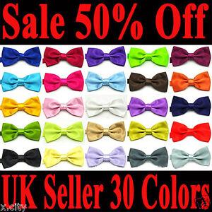 Brand-New-Italian-Satin-Wedding-Party-Tuxedo-Pre-Tied-Bow-Tie-All-Colors