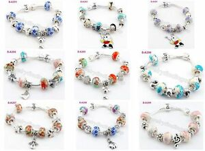1pcs-lampwork-porcelain-silver-beaded-European-charms-snake-love-bracelet
