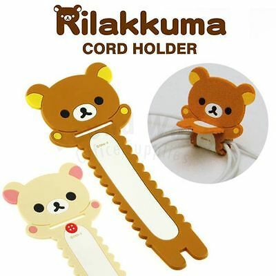 San-X Rilakkuma Relax Bear Cute iphone Headphone Earphone Cord Holder Organizer
