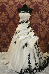 UK-Wedding-dresses-bridal-gown-wear-black-white-ivory