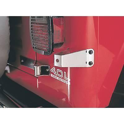 1976-1995 Jeep Wrangler & CJ Tire Stop Bracket Stainless Steel