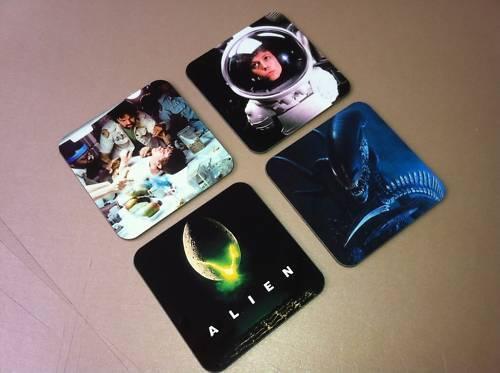 Alien Sci Fi Classic Film Drinks COASTER Set