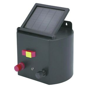 New Solar Powered Electric Fence Charger Horse Cattle Ebay