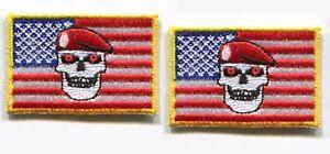 AFG-PAK TALIZOMBIE© WHACKER SP OPS burdock 2-PATCH: US Flag Zombie Hunter