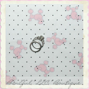BonEful-Fabric-FQ-Cotton-Martha-Pullen-Baby-Poodle-Puppy-Dog-White-Pink-B-amp-W-Dot