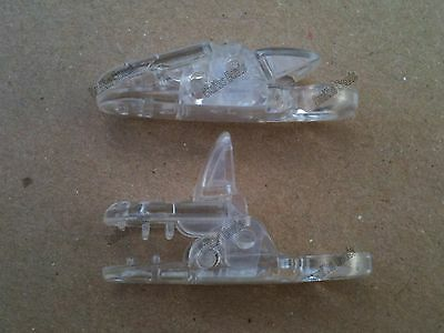 50 Clear Plastic Badge Clips for making Dummy Clips/Straps, ETC