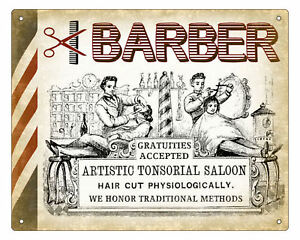 BARBER-SHOP-hair-salon-VINTAGE-SIGN-RETRO-PLAQUE-art-1