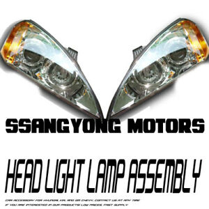 Genuine-OEM-Head-Light-Lamp-Assembly-LH-RH-2p-For-2005-2011-Ssangyong-Kyron