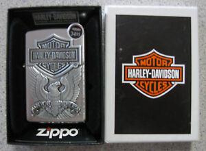 BRAND-NEW-Genuine-Zippo-Harley-Davidson-Made-In-the-USA-Eagle-Lighter-200HD-H284