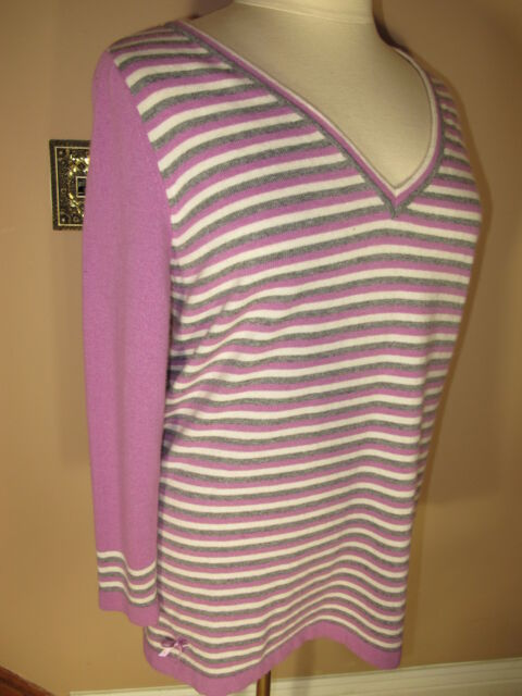 Marina Rinaldi Max Mara Mauve Wool Cashmere Blend Top Knit Sweater MR M/2XL NWT