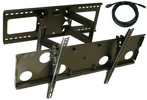 ARTICULATING-DUAL-ARM-SWIVEL-LCD-LED-TV-WALL-MOUNT37-42-47-50-55-60-65-FREE-HDMI