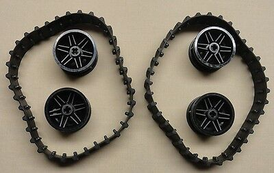 Lego NXT Technic Mindstorm Treads Tank Tractor Parts Black Treads & Hubs