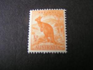 AUSTRALIA, SCOTT # 166, 1/2p. VALUE ORANGE 1937-46 KANGAROO ISSUE MNH