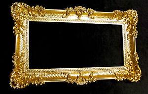 barock spiegel wandspiegel rechteckig antik badspiegel gold antik 96x57 ebay. Black Bedroom Furniture Sets. Home Design Ideas