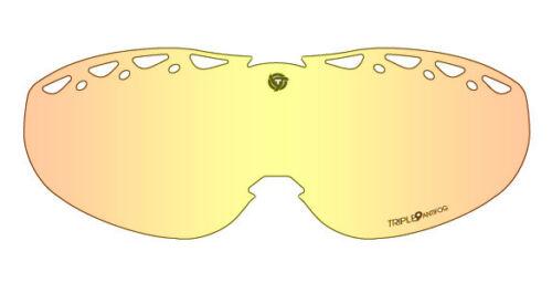 Triple 9 optics Saint Chrome HD Amber Replacement Lenses Snow Winter Replace