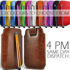 PREMIUM-PU-LEATHER-PULL-FLIP-TAB-CASE-COVER-POUCH-amp-STYLUS-PEN-FOR-MOBILE-PHONES