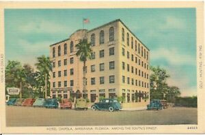 Image Is Loading Hotel Chipola Marianna Fl Postcard