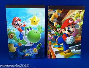Super-Mario-Bros-Notepad-memo-MrsMario-039-s-2-to-choose-from-FREE-P-amp-P