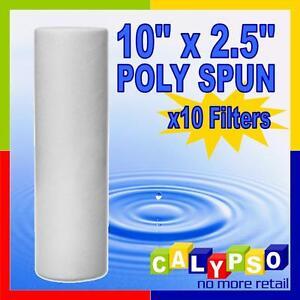 10x-10-034-x2-5-034-Poly-Spun-Filter-Cartidges-your-choice-of-0-5-1-5-10-20-50-Micron