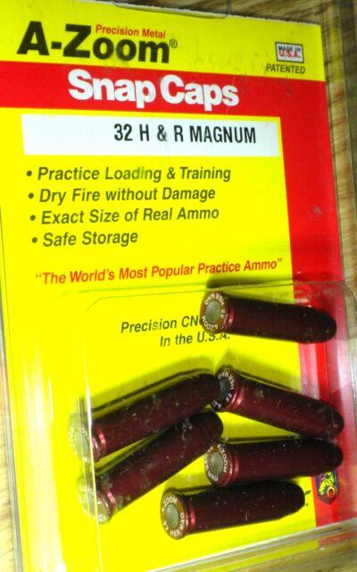 A-Zoom Metal Snap Caps  *  32 H&R Magnum  *  # 16137    6 per package   new!