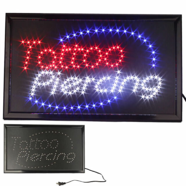 Animated Motion LED Business Tattoo Piercing Shop SIGN Switch Open Light Neon