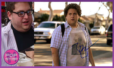 Honest Jonah Hill Signed Superbad 8x12 Photo Coa Good For Antipyretic And Throat Soother Entertainment Memorabilia Movies