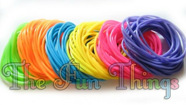 144 JELLY BRACELETS RAINBOW NEON COLORS BIRTHDAYS PARTY FAVORS INCENTIVES GIFTS