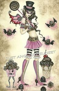 Amy-Brown-Print-5-5x8-5-Death-by-Chocolate-Fairy-Faery-Angry-Sweets-Cupcake-HTF