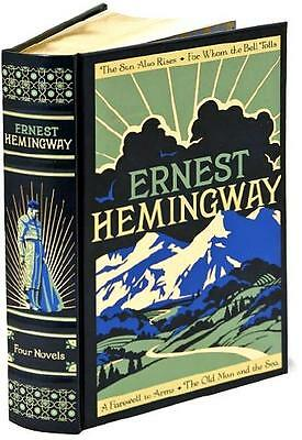 4 HEMINGWAY NOVELS LEATHERBOUND - OLD MAN & THE SEA Bell Tolls FAREWELL TO ARMS