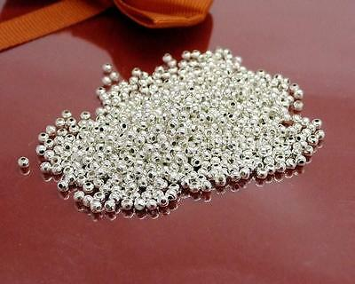 Wholesale 500 Pcs Silver Plated Round Ball Spacer Beads 2mm