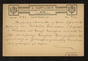 STATIONERY-AUSTRIA-1890-ADVERTISING-PRIVATE-PRINTED-A-HARTLEBEN-VFU