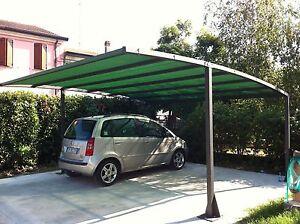Box auto gazebo tetto tettoia pensilina anti grandine for Coperture in legno per auto usate