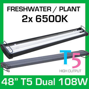 T5-Dual-48-034-6500K-Aquarium-Light-Strip-Grow-Plant-Discus-Angel-Freshwater-108W