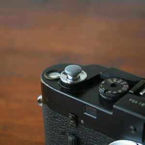 Grey Small Soft Release Button for Leica M3 M4 M6 MP M8 M9 Fuji X100 Nikon Canon
