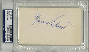 Maurice-Richard-SIGNED-3x5-Index-Card-Canadiens-DEC-PSA-DNA-AUTOGRAPHED