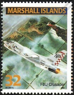 US Navy VOUGHT F-8 CRUSADER (F8U) Jet Aircraft Airplane Mint Stamp