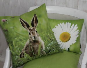 proflax kissen dekokissen hase jesse 40x40 kissenh lle gr n osterhase ostern ebay. Black Bedroom Furniture Sets. Home Design Ideas