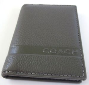 COACH-GRAY-SIGNATURE-LEATHER-SLIM-PASSCASE-SMALL-ID-WALLET-F74354