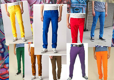 Skinny Jeans for Men, Colorful or basic, Made in America. 97%cotton 3% spandex./