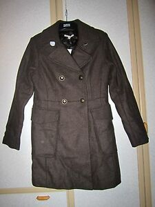 Gap-Ladies-Brown-Double-Breasted-Wool-Rich-Coat-Size-S-BNWT-RRP-119-95