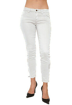 Nwt $220 VINCE Zip Zip Cropped Jeans Ankle Pants Trousers ~White *31