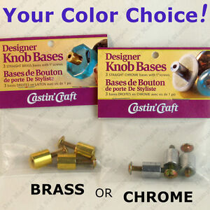 Castin-039-Craft-CABINET-KNOB-BASES-straight-w-screws-Cast-Your-Own-From-Resin