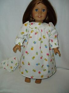 Roses-Nightgown-with-Matching-Underwear-18-inch-doll-clothes-fit-American-Girl