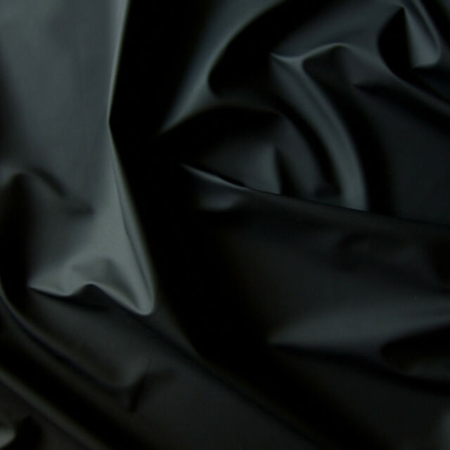 MATTE VINYL PLEATHER GOTHIC FETISH FABRIC WATERPROOF RAINCOAT BLACK WHITE 54'W