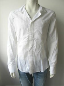 Bikkembergs-Bluse-Herren-Shirt-Hemd-Weiss-Neu-XL