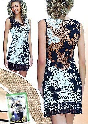 Stylish Crochet Patterns Poncho Shawl Dress Top Cardigan Book Duplet 123